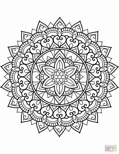 Mandala Coloring Pages Flower Mandalas Printable Floral