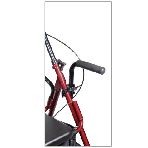 maxiaids drive duet transport chair and rollator burgundy