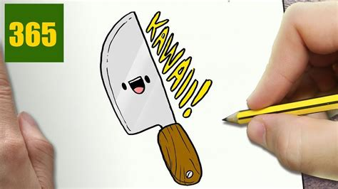 draw  knife cute easy step  step drawing lessons  kids youtube