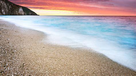 ocean beach sunset  ultra hd desktop wallpaper