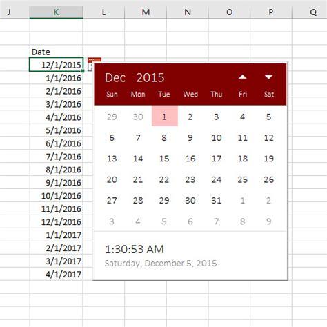 Office 365 Xlstart by Excel Date Picker Sam Radakovitz