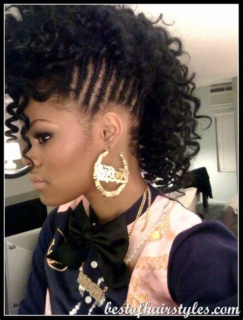 braided mohawk with loose curls mohawks braids