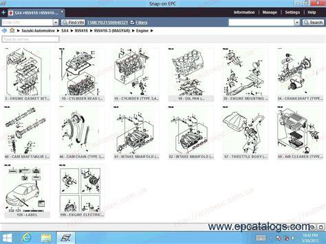 suzuki worldwide epc  spare parts catalog
