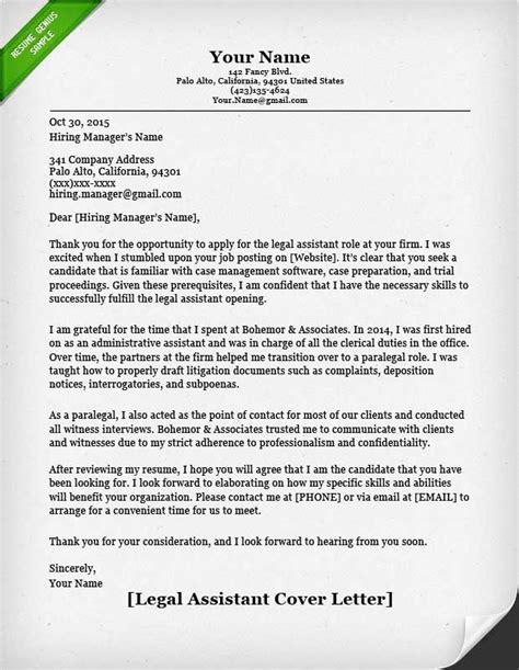 paralegal cover letter sample resume genius