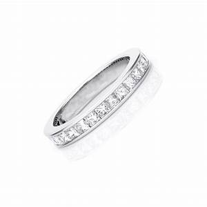 2 carat eternity princess cut diamond wedding band ring With wedding ring with 2 bands