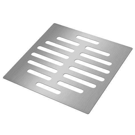 silver floor drain protector tone square shape