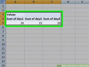 Pivot Chart Excel Mac How To Add Data To A Pivot Table 11 Steps With Pictures
