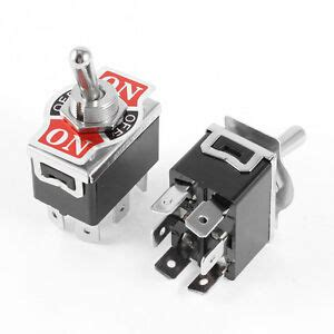2 x black dpdt 3 position on on momentary 6 terminals toggle switch ebay