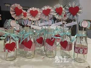 Valentine BINGO Centerpieces: table decor ideas LovenStamps