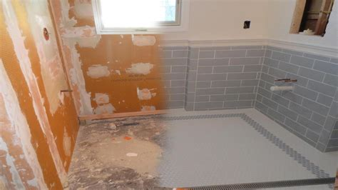 How To Remove Bathroom Grout by Complete Tile Installation Schluter Kerdiboard Kerdi Line