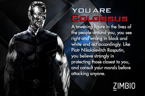 I Took Zimbio's 'x-men' Personality Quiz And I'm Colossus