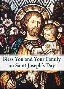 of st joseph 39 s day greeting card