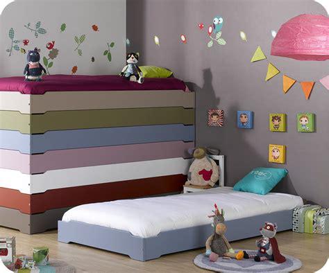chambre 3 enfants lit enfant empilable bleu chine 90x190 cm vente mobilier