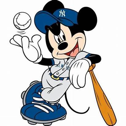 Yankees Mickey Mouse Clipart Disney York Baseball
