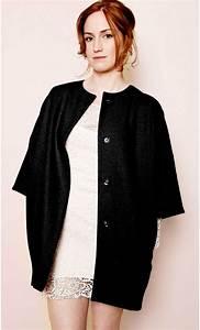 Gilet Long Noir Femme : gilet femme mi long en laine ~ Voncanada.com Idées de Décoration