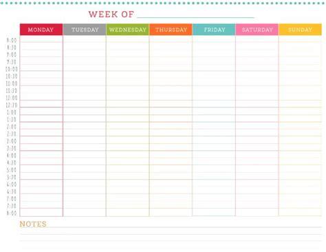 Weekly Schedule Template 5 Weekly Schedule Templates Excel Pdf Formats