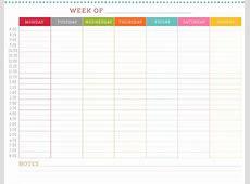 Nice Weekly Schedule And Calendar Template Sample Vmdcom