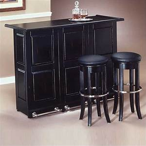 Gorgeous black home bar on styles furniture black folding for Home bar furniture on ebay