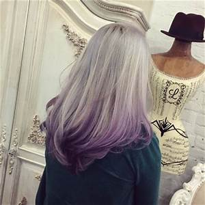Gallery Silver Purple Ombre Hair