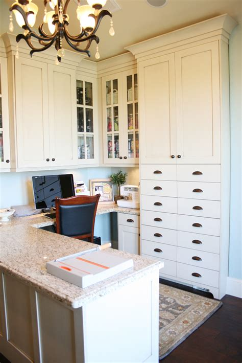 Scrapbook Room With Builtin Craft Storage