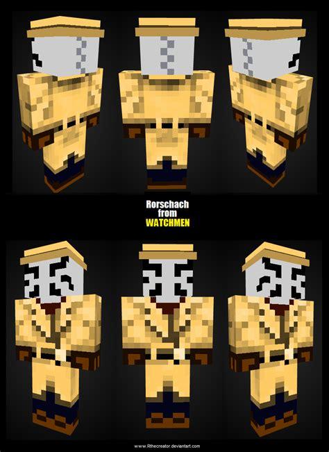 rorschach minecraft skin  rthecreator  deviantart