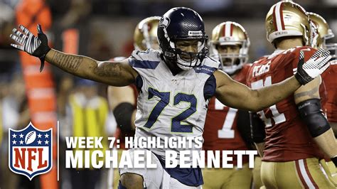 michael bennett highlights week  seahawks  ers