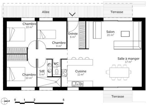 plans de maison plain pied 3 chambres plan de maison plain pied 90 m avec 3 chambres ooreka