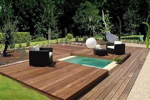 Mini Piscine Enterrée : piscine spa enterr e avec couverture en bois mini water ~ Preciouscoupons.com Idées de Décoration