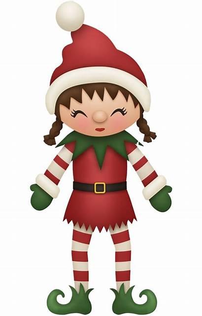 Elf Santa Christmas Clip Claus Background Cartoon