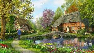 English Cottage Wallpapers, 43 English Cottage Backgrounds ...