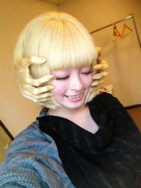 unusual hairstyles haircuts blonde girl funny style