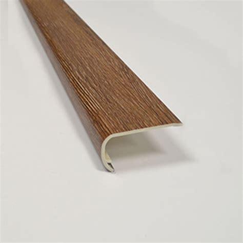 vinyl plank flooring stair nose shop smartcore by natural floors 2 in x 94 in mckinley oak vinyl stair nosing at lowes com