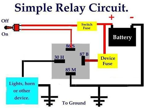 Simple Relaycircuit Electrically Operated Switch