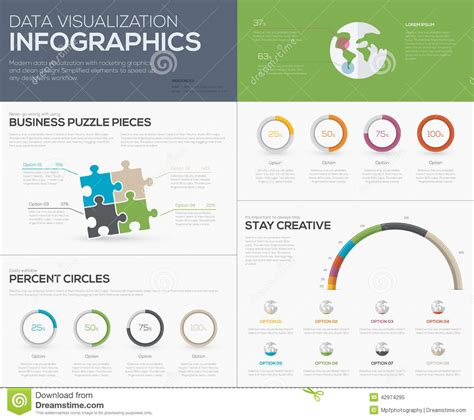 Which Pieces Of Information Would Be To Include In A Resume by Modern Data Visualization Infographics With Jigsaw Puzzle