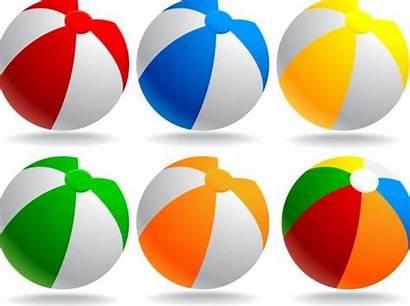 Beach Balls Material Vector Colored