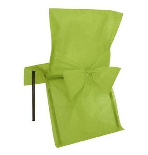 achat housse de chaise mariage intiss 233 e avec noeud vert