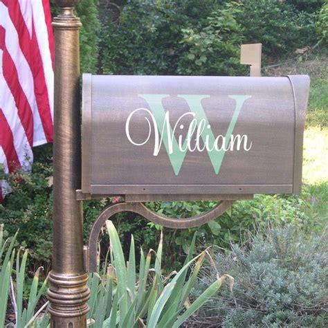vinyl mailbox decals ornaments    monogram wall decals home interior exterior