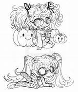 Yampuff Coloring Deviantart Micro Sketches Pigtailed Chibis Pages Licorice Sketch Lord Template Yam Chibi Bites Puff A4 sketch template