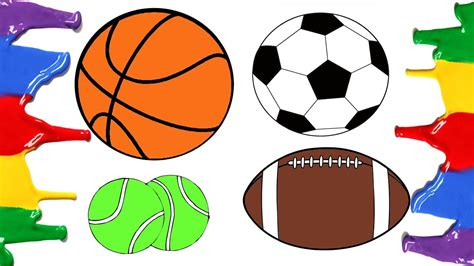 football colors how to draw and color football basketball american