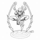 Spider Spiderman Iron Homecoming Costume Colors Drawing Fernandez Jose Ironspider Michael Inks Loved Ironman Spidermanhomecoming Tumblr Clipartmag Getdrawings sketch template