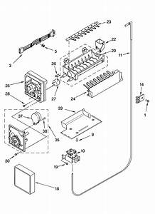Icemaker Parts  Optional Parts Diagram  U0026 Parts List For Model Gd5rhaxnb00 Whirlpool