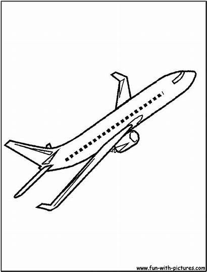 Coloring Airliner Commercial Pages Sketch Bone Dog