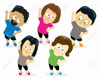 Fitness Gym Exercises Able Cartoon Exercise Exercising