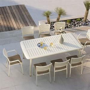 Soldes Table De Jardin : destockage salon de jardin repas madison 4 couverts roland ~ Edinachiropracticcenter.com Idées de Décoration