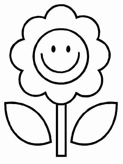 Coloring Easy Pages Flower