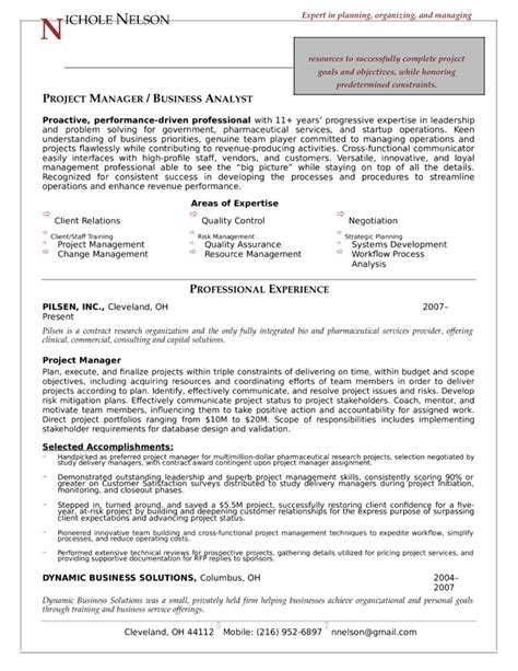 100 project management resume exle technical manager