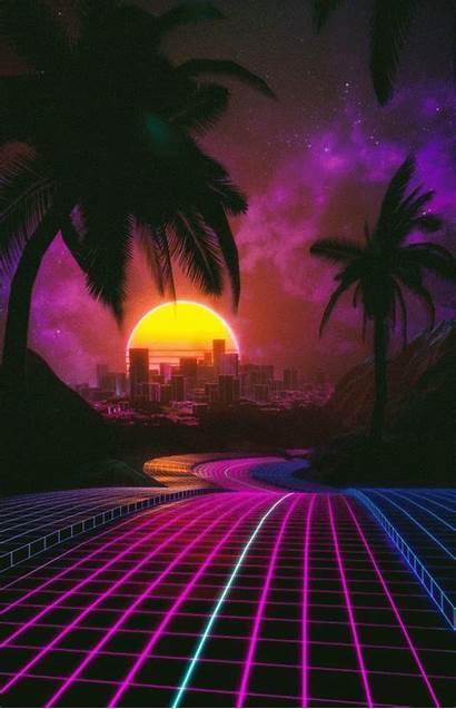 Aesthetic Retro Vaporwave Neon Outrun Reddit Trippy