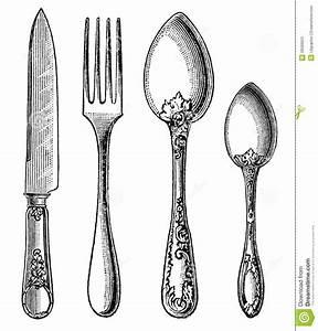 Vintage Fork Clipart - Clipart Suggest