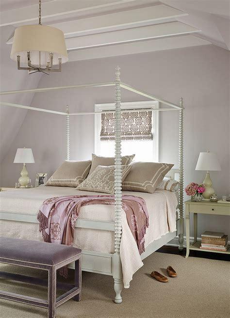 gray  purple bedrooms transitional bedroom andrew