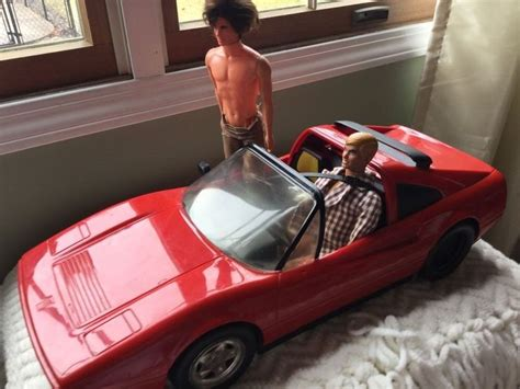 barbie red cars barbie red ferrari mattel 1991 used but has original box